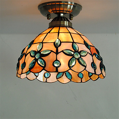 Shell Tiffany LED Vintage ceiling Light Fixtures Bedroom Living Room Lights LED Ceiling Lamp Lampara Techo Plafondlamp