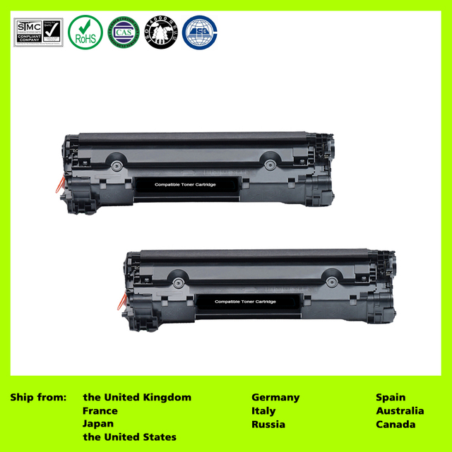 US $23 22 20% OFF Compatible for 83A CF283A (2 Pack Black) Toner Cartridge  for HP LaserJet Pro MFP M127fn/fw /125NW/125rnw/M126A/M126nw/M128fn-in