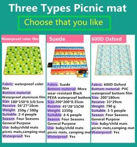 Image 4 - Picnic Mat 200*200cm Camping Moistureproof Outdoor Baby Climb Plaid Blanket Yoga 600D Oxford Pad