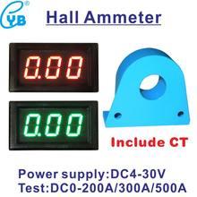 YB28C DC 0-200A 300A 500A LED Digital Amperemeter mit CT Kit Mini Amperemetre Ampere Meter Amp Panel Meter Halle Strom anzeige