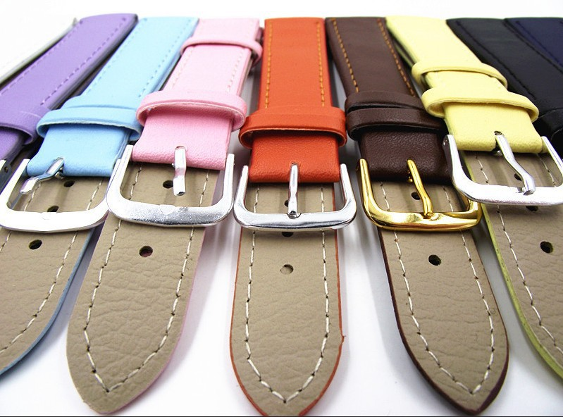 Wholesale 50PCS / lot 18MM PU with genuine leather Watch band watch strap 10 colors-3199 | Watchbands