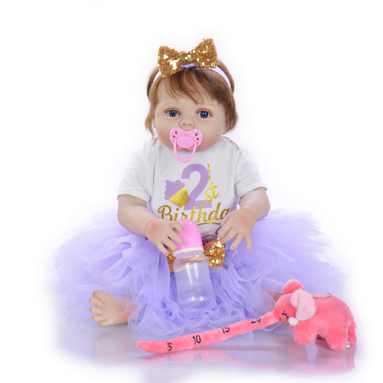 KEIUMI 23 นิ้ว Full Body ซิลิโคนไวนิล Reborn Bonecas Rooted ผมตุ๊กตาเด็กทารก Reborn เหมือนจริง 57 ซม. เด็ก Playmates ของขวัญ-ใน ตุ๊กตา จาก ของเล่นและงานอดิเรก บน   3