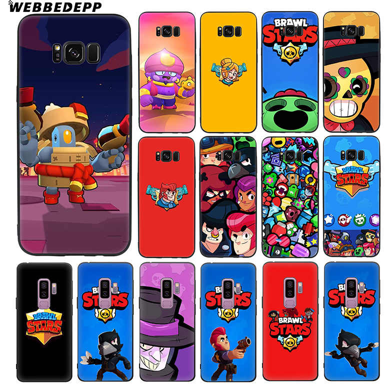 WEBBEDEPP Brawl Stars Soft TPU Silicone Case for Samsung Galaxy S10 S10e S9 S8 Plus S7 S6 Edge & J6