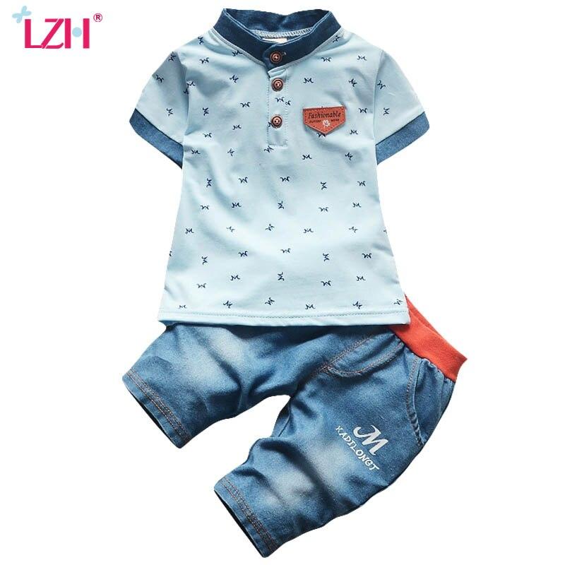 LZH Toddler Boys Clothing Sets 2018 Summer Baby Boys Clothes T-shirt+Shorts 2pcs Kids Clothes Boys Sport Suit Children Clothing