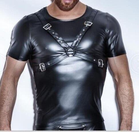 XX80 Summer Style 2017 Fashion Black Faux Կաշվե - Տղամարդկանց հագուստ - Լուսանկար 2
