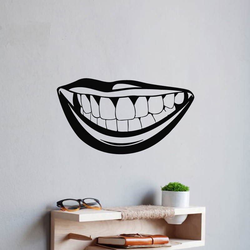Pegatina Tooth Teeth Sticker Dentist Mouth Decal Hollow Sticker Car Window Vinyl Dental Clinic Funny Poster
