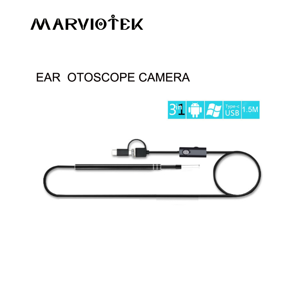 3-in-1 In-ear Cleaning Endoscope USB Ear Cleaning Tool HD Visual Ear Spoon Multifunctional Earpick With Mini Camera Pen Ear Care 3 in 1 sucker filter mixing spoon with cleaning brush