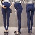 2016 Pantalones De Maternidad Otoño Invierno Más Tamaño Pantalones de Cintura Alta de Ropa de Moda Los Pantalones Vaqueros de Terciopelo Grueso De Maternidad Embarazadas 2 Colores Calientes