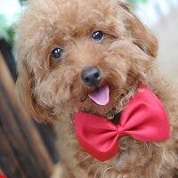 Hund krawatten 15 farben pet grooming zubehör kaninchen cat hund fliege einstellbare bowtie multicolor polyester 50 teile/los großhandel