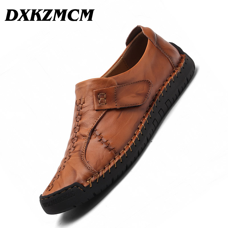 DXKZMCM Men Loafers Genuine Leather Casual Shoes Breathable Slip on man red Plus Size 38-47 mocasines zapatos de hombreDXKZMCM Men Loafers Genuine Leather Casual Shoes Breathable Slip on man red Plus Size 38-47 mocasines zapatos de hombre