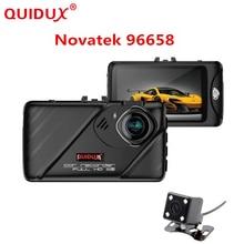 QUIDUX New Novatek 96658 3 inch Dual Lens Car Camera Full HD 1080P Dash Camera Car DVR Video Recorder Night Vision Black Box