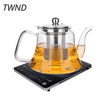 Heat resistant glass teapot large capacity kettle with stainless steel filter cover kung fu pot tea water drinkware 19