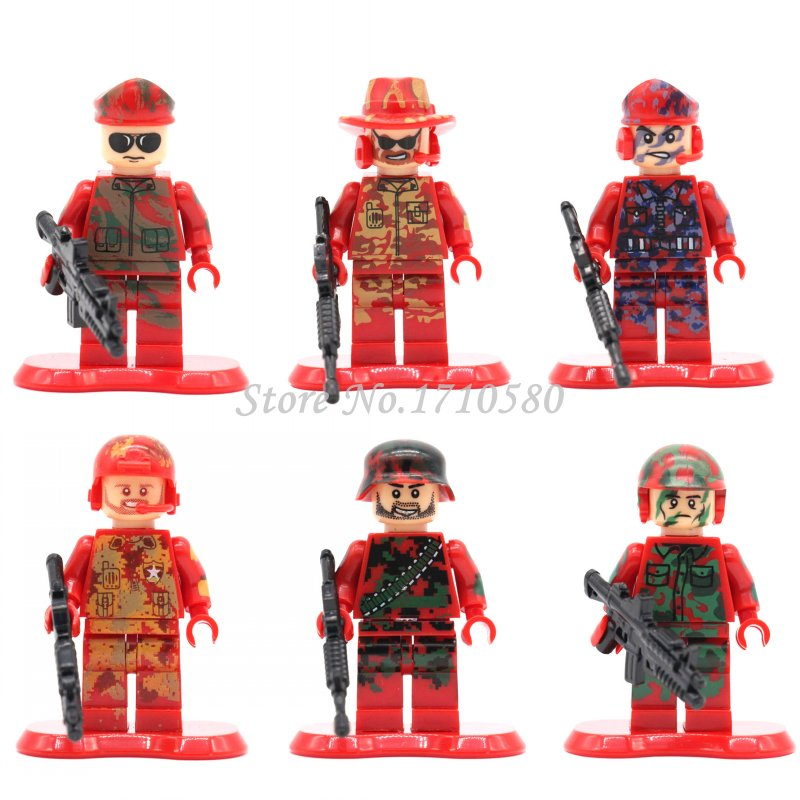 Single Sale Ghostbusters City Police SWAT Team Army Soldier Military Air Weapons Helicopter Guns Building Blocks