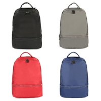 Fashion Unisex Backpack Solid Color Nylon School Bags