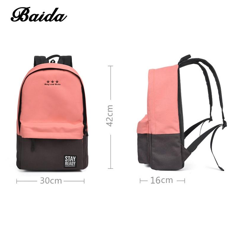 mochila mochila de lazer coreano Backpack Capacidade : 20-35litre