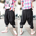 new 2015 hip hop style simple banana harem pants men black casual Tapered low drop crotch harem Pants men slacks calca,M-2XL