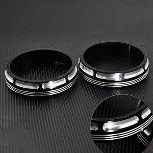 "Image 5 - รถจักรยานยนต์ Burst Collection Trim แหวน 4 1/2 ""โคมไฟเสริมสำหรับ Harley Touring Electra Glide ถนน Glide FLHX 1 คู่"