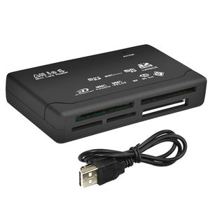 All In One Card Reader USB 2.0 SD Card Reader Adapter Support TF CF SD Mini SD SDHC MMC MS XD