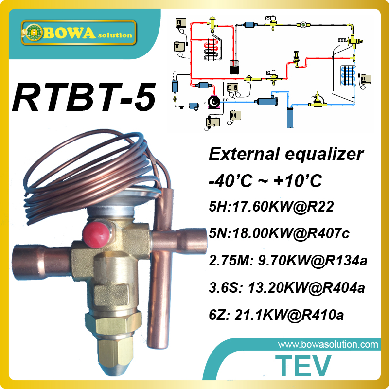 6TR Bi-flow expansion valve with solder connection tube  for  heat pump VRV air conditioner heat pump air conditioner spare parts of electronic expansion valve coil