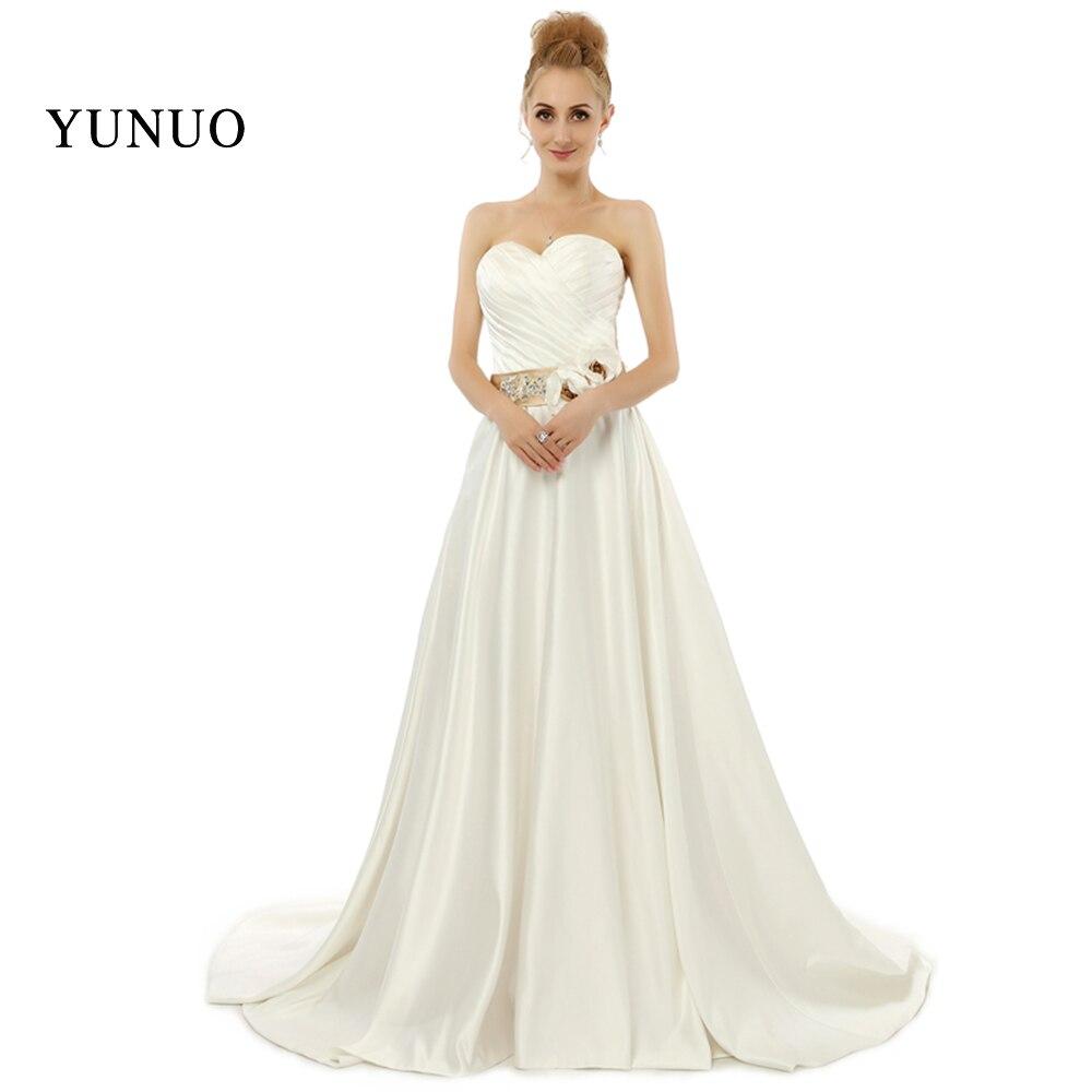 Модная Милая рукавов Цветы Длинные ленты лук бежевый свадебные платья Длинные свадебные платья на заказ x08252