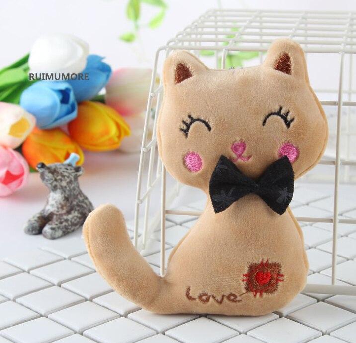 Animal Stuffed Kitty Cat Key chain TOY 10