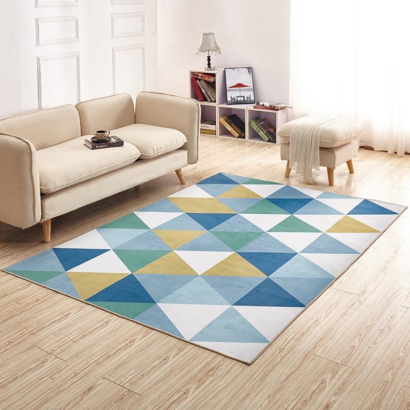 Salon maison tapis antidérapant doux tapis chambre moderne tapis Pad 140cm * 200cm peluche tapis zone tapis pour salon - 3
