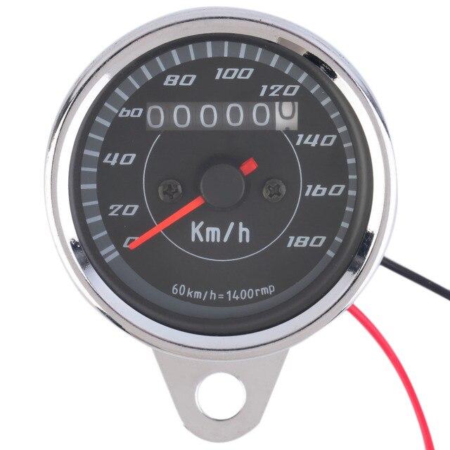 2017 High Quality Motorcycle Odometer Speedometer Gauge LED Backlight Signal Light 12V
