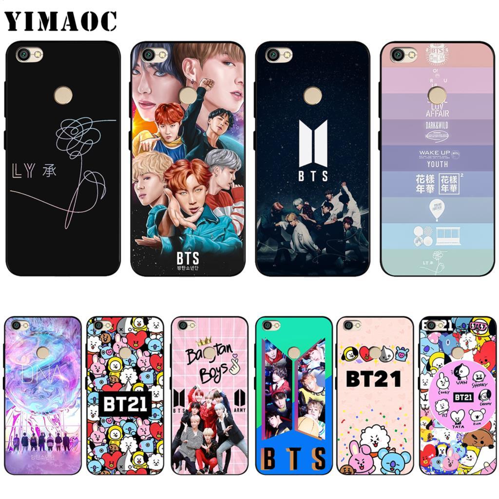YIMAOC BTS BT21 Bangtan Boys Soft Silicone Case for Xiaomi Redmi Note 4 4X 4A 5 5A 6 MI A1 mi6 Prime Plus