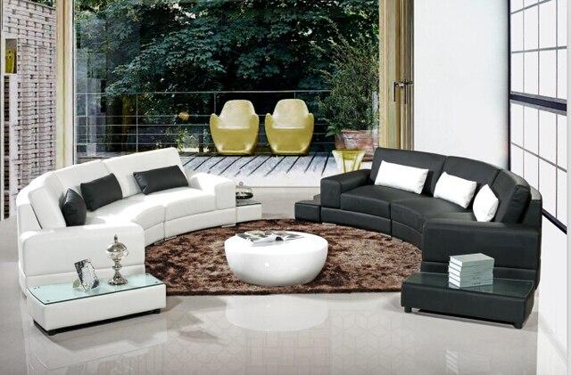 Moderno angolo divani e divani angolari in pelle con forma di l ...