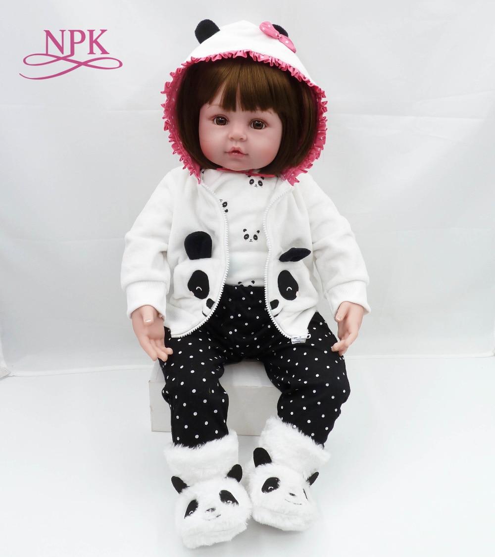 NPK neue 58 cm Silikon Reborn Boneca Realista Mode Baby Puppen Für Prinzessin Kinder Geburtstag Geschenk Bebes Reborn Puppen