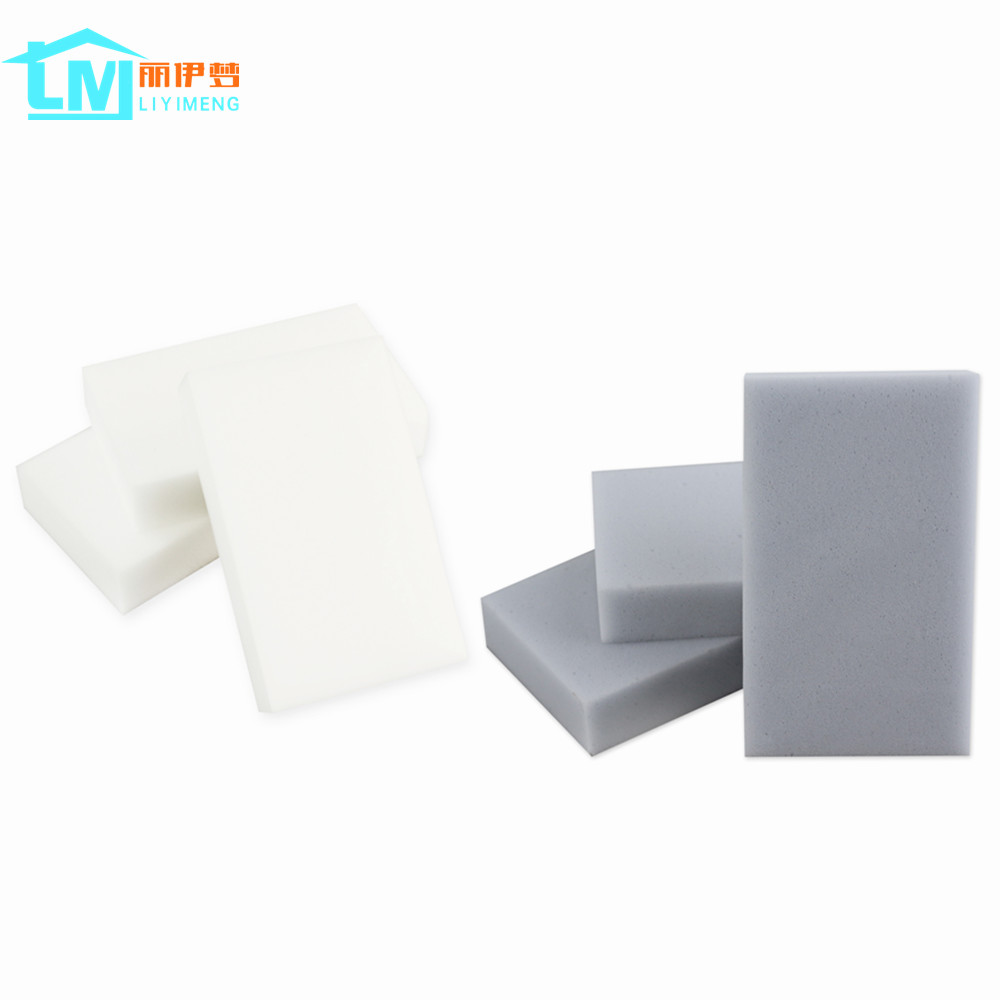 LIYIMENG 50 Pcs/lot   Magic Melamine Sponge Eraser  Cleaner Kitchen Bathroom Cup Dish Botthle Cleaning 100x60x20mm Free Shipping