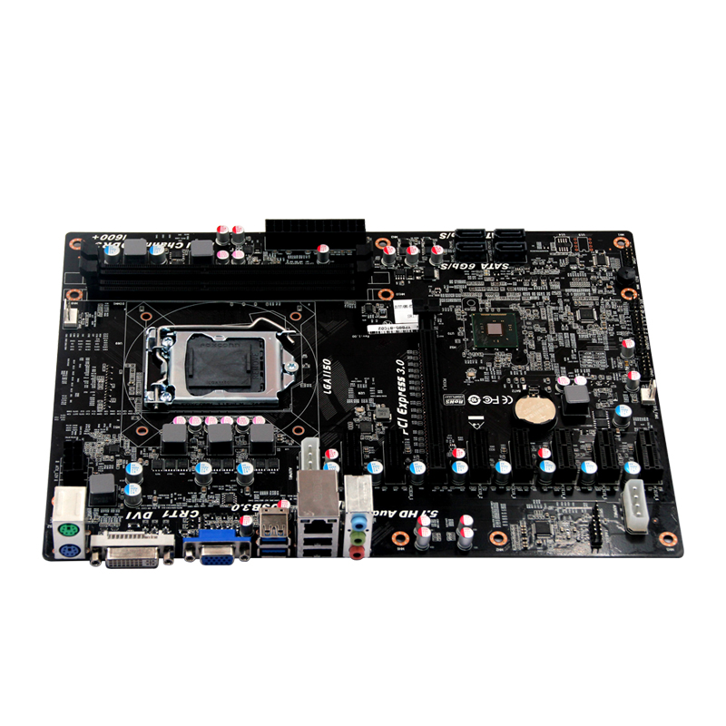 Bitcoin Miner, 6*Pcie, Btc Mainboard Miner Mining Motherboard spot goods antminer s5 1155 gh s asic miner bitcon miner 28nm btc mining sha 256 miner power consumption 590w