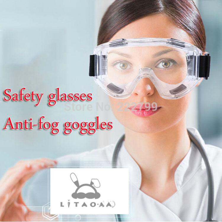 Safety glasses Anti-fog goggles cycling Anti-wind sand dust experiment labor insurance supplies free shipping