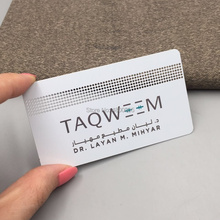 OEM Custom Design Logo engraved stainless steel metal cards