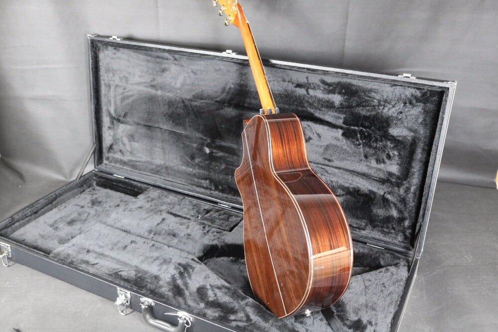 40 ''Cutway 916 guitare acoustique électrique b-band micros ébène touche Grover Tuner haut rigide - 6