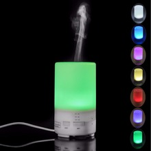 Travel Portable Mini Ultrasonic Humidifier USB Air Purifier for Car Essential oil Aroma Diffuser with 7 Colors LED Mood Lights