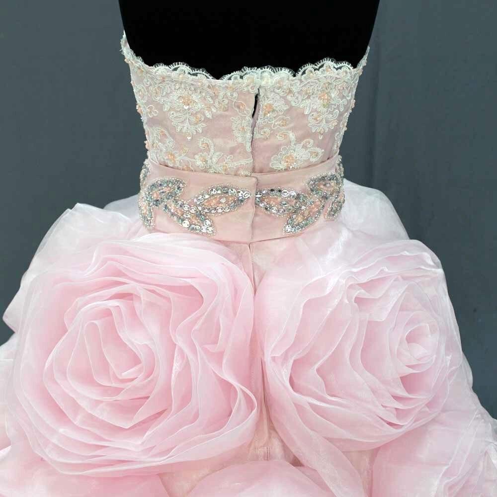 Beliebte Rosa Kleines Mädchen partei kleid Kristalle Bund Reale ...