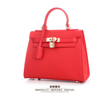 EU and US style High End Quality Genuine Leather Tote  Handbag , 2016 fashion Cowhide Handbag for Successful Women