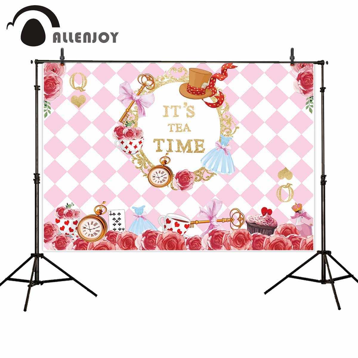 Allenjoy/вечерние часы с розовыми розами и розовыми бриллиантами в золотой оправе для покера, карманные часы принцессы, модные фотофоны для фотосессии