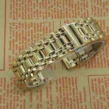 A estrenar del acero inoxidable ajustable correa de pulseras de oro para hombre mujeres venta al por mayor 16 mm 20 mm moda joyería y relojes