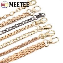 цена на New 100/120cm Shoulder Bag Straps Handle Shoulder Crossbody Handbag Bag Belt Metal Replacement Gold Silver Black Metal Bag Chain
