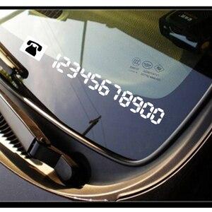 Image 2 - Auto Styling Vinyl Reflecterende Materialen Tijdelijke Parking Auto Mobiel Nummer Kentekenplaten Stickers Auto Accessoires