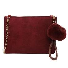 Новая модная повседневная горячая Распродажа beautican Женская однотонная Замшевая сумка через плечо клатч сумка на плечо сумка для телефона