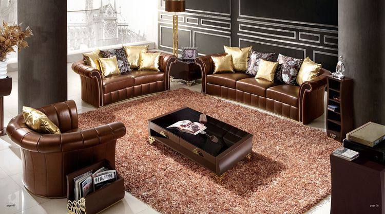 Italian Design Home Furniture Leather Sofa Sectional Sofa Living