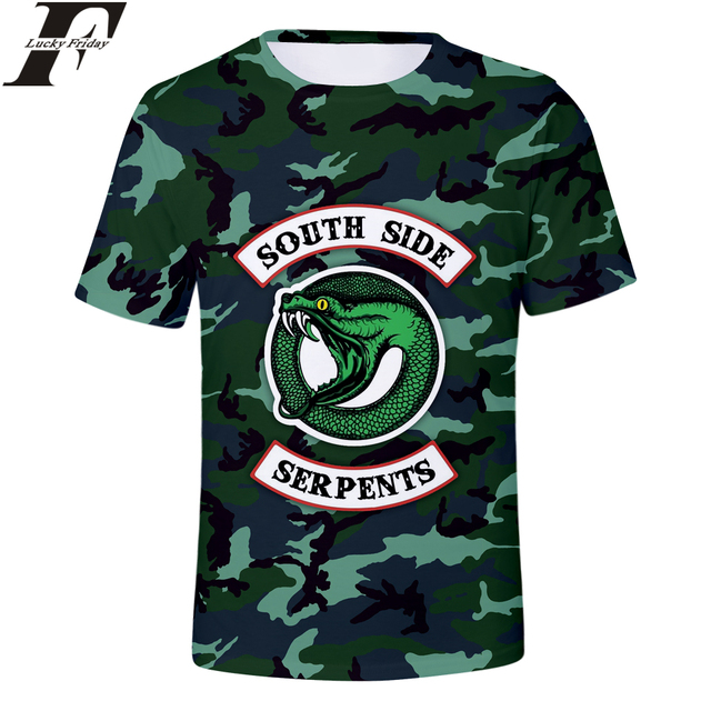 K-ポップ RIVERDALE Tシャツ 3D プリント半袖男性/女性南側ヘビ Tシャツ男性/女性カジュアル服プラスサイズ 4XL