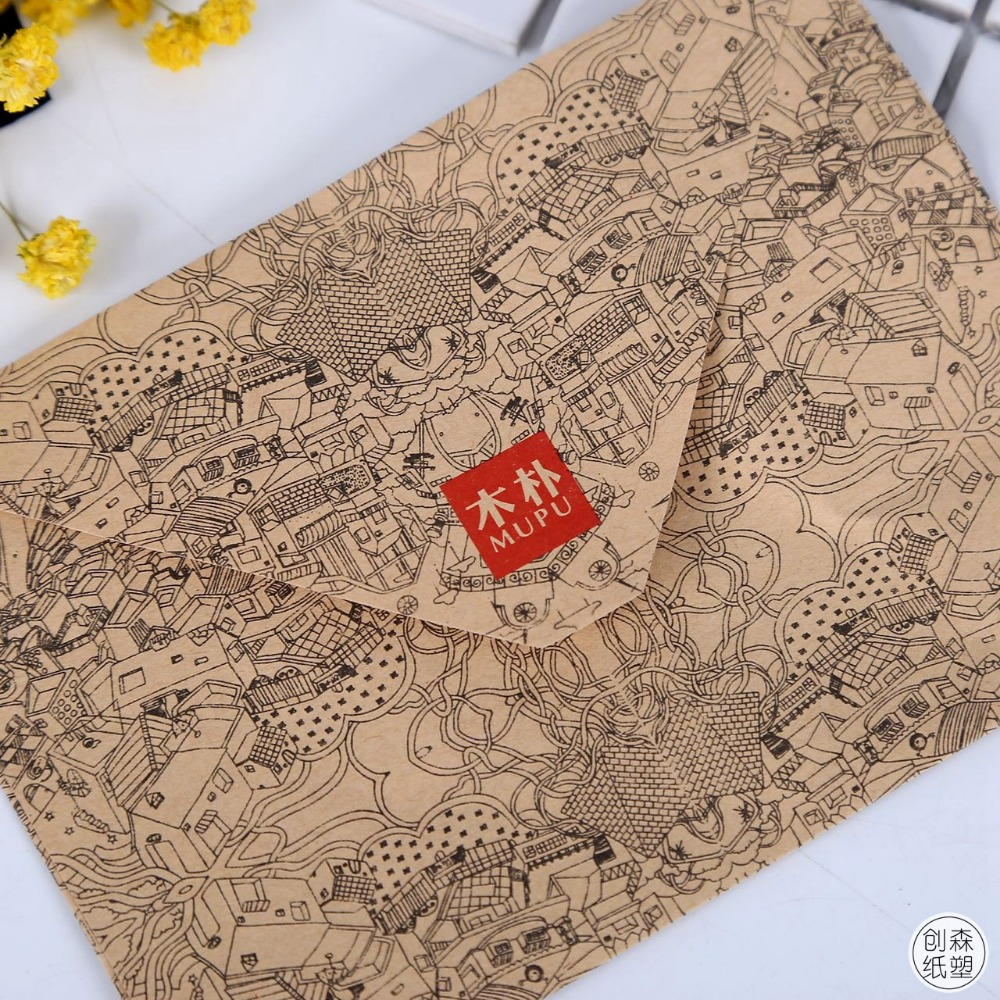 10 Pcs/lot Vintage Retro Kraft Paper Envelope For Business Card Style High Quality Free Shipping