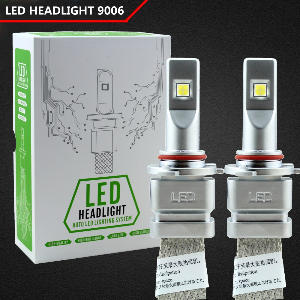 где купить 2pcs 9006 Led H4 Car Headlights 80w 10000lm HB4 Led Light Bulbs H1 H3 H7 H8 H9 H11 9005 9006 Automobiles Headlamp 6000K Fog Lamp по лучшей цене