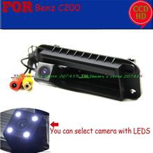 Для Sony CCD led провода беспроводной GPS DVD автомобиля камеры заднего Ассистент Парковки для Benz (Mercedes) 2012-2013 C200 багажника ручка камера