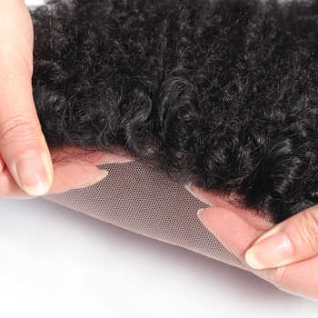 Brazilian Human Hair Afro Kinky Curly closure 8-20Inch 4*4 Free Part Lace Closure Natural Color Remy Hair Weaving Free to Brazil