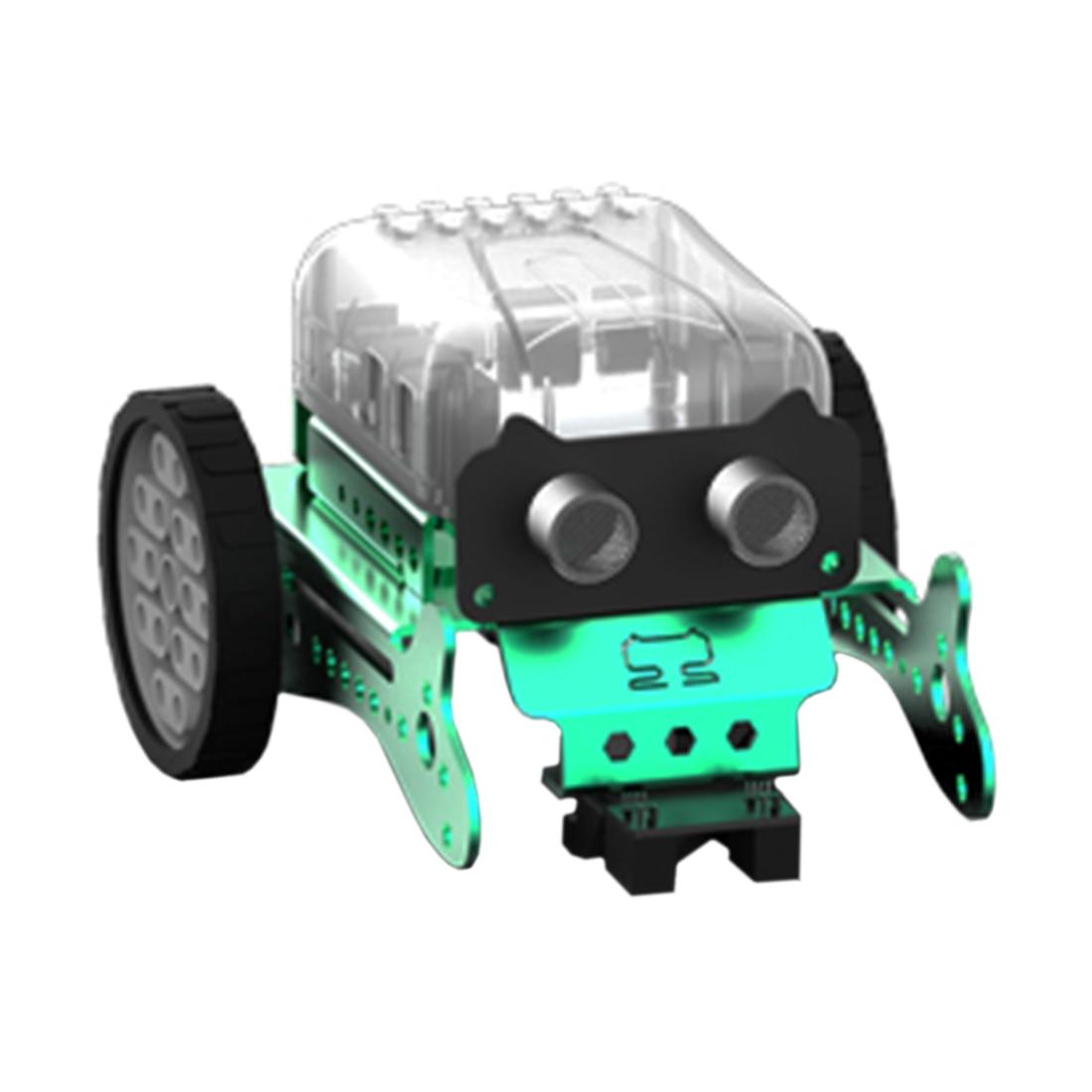 Сделай Сам Нео Программирование царапина Интеллектуальный автомобиль избегания препятствий робот набор для детей подарок игрушка модель мини умный робот-зеленый красный - Цвет: Green